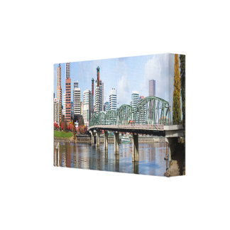 Portland Panoramic City Skyline Canvas Print