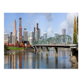 Portland Panoramic City Skyline Postcard