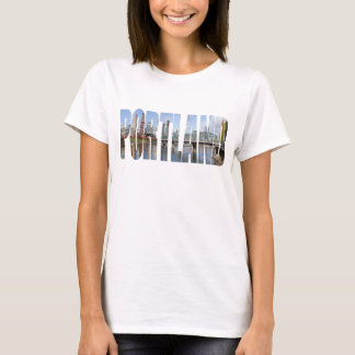 Portland Panoramic City Skyline T-shirt