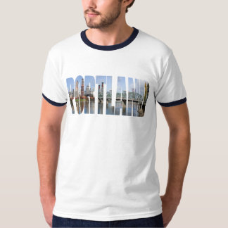 Portland Panoramic Skyline Ringer T-shirt