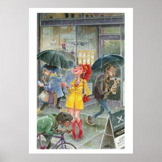 Portland Rain Poster