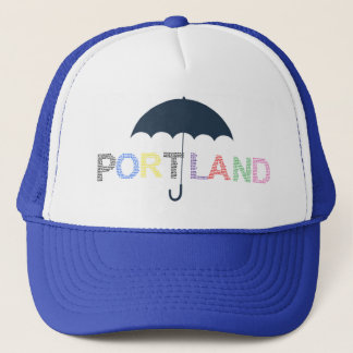 Portland Rain Weather Blue Baseball Cap  Hat