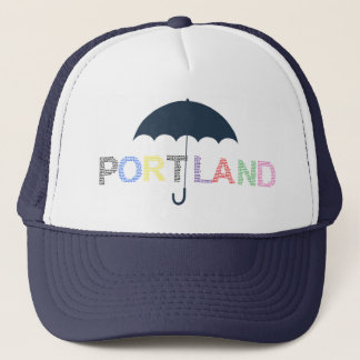 Portland Rain Weather Navy Baseball Cap Hat