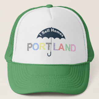 Portland Real Estate Homes Green Baseball Cap Hat