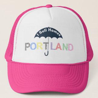 Portland Real Estate Homes Pink Baseball Cap Hat