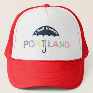 Portland Real Estate Homes Red Baseball Cap Hat