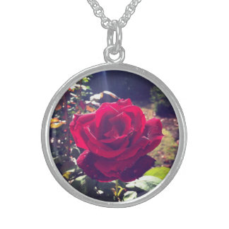 Portland Rose Round Pendant Necklace