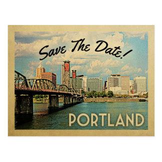 Portland Save The Date Oregon Postcard