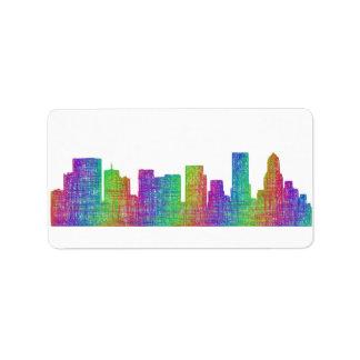 Portland skyline address label