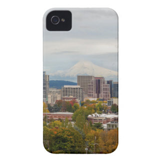 Portland Skyline and Mount Hood in Fall Season iPhone 4 Cover