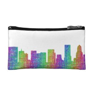 Portland skyline cosmetic bag