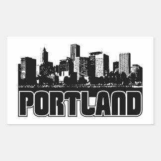 Portland Skyline Rectangular Sticker