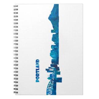 Portland Skyline Silhouette Notebooks