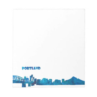 Portland Skyline Silhouette Notepad
