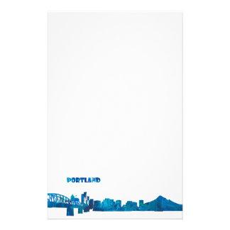 Portland Skyline Silhouette Stationery
