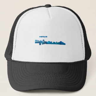 Portland Skyline Silhouette Trucker Hat