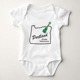 Portland Ukulele Wednesdays Baby Bodysuit