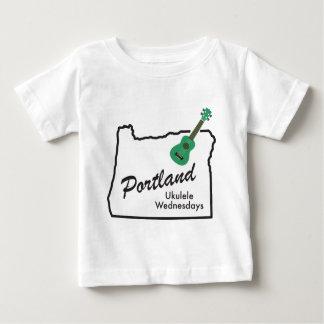 Portland Ukulele Wednesdays Baby T-Shirt