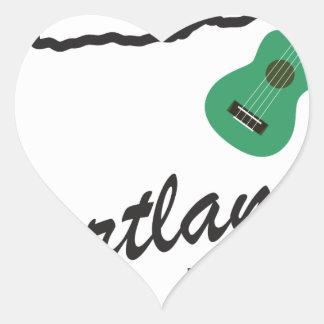 Portland Ukulele Wednesdays Heart Sticker