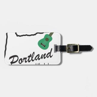 Portland Ukulele Wednesdays Luggage Tag