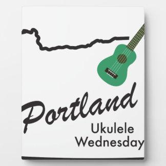 Portland Ukulele Wednesdays Plaque