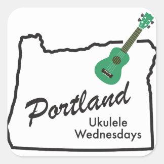 Portland Ukulele Wednesdays Square Sticker