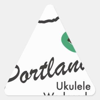 Portland Ukulele Wednesdays Triangle Sticker