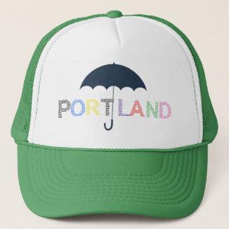 Portland Umbrella Green Baseball Cap Trucker Hat