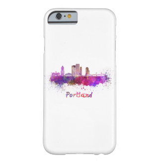 Portland V2 skyline in watercolor Barely There iPhone 6 Case