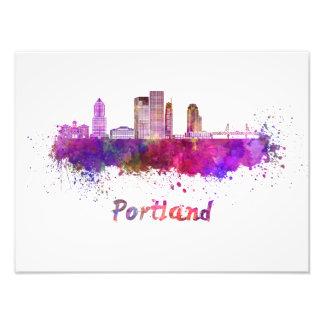 Portland V2 skyline in watercolor Photo Art