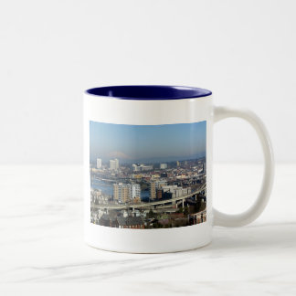 Portland Viewed from the Aerial Tram Two-Tone Coffee Mug