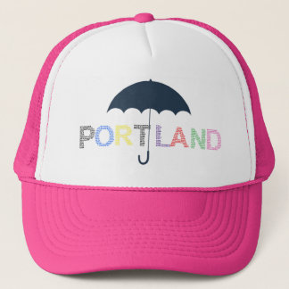 Portland Weather Pink Baseball Cap Trucker Hat