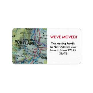Portland We've Moved label Address Label