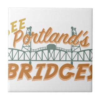 Portlands Bridges Small Square Tile