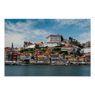 Porto City Skyline Poster