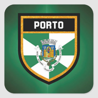 Porto Flag Square Sticker