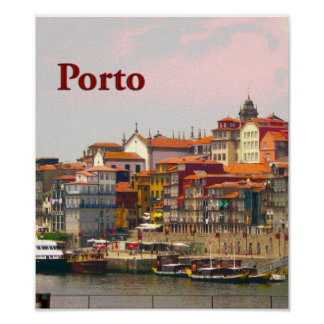 Porto from across the Douro Poster