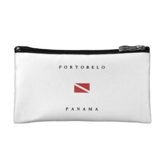 Portobelo Panama Scuba Dive Flag Makeup Bag