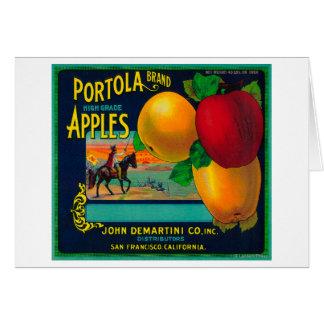 Portola Apple Crate Label Greeting Card