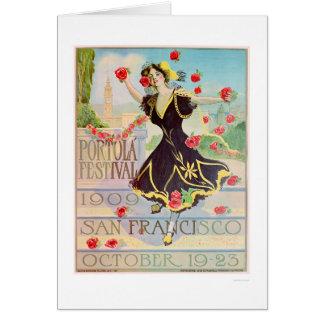 Portola Festival in San Francisco 1909 Card