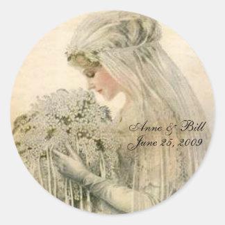 Portrait Bride 'Save the Date' Sticker