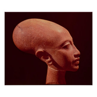 Portrait bust of a daughter of King Akhenaten Poster