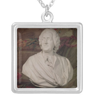 Portrait bust of Jacques-Ange Gabriel Silver Plated Necklace