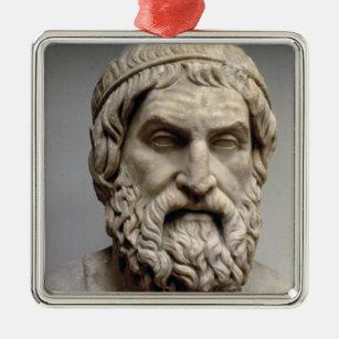 Portrait bust of Sophocles Metal Ornament