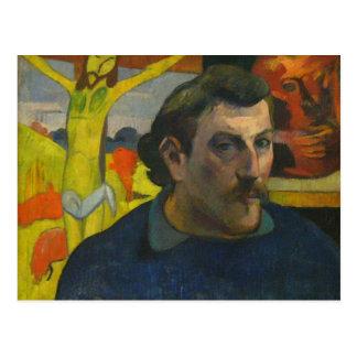 Portrait by Paul Gauguin, 1889 Postcard