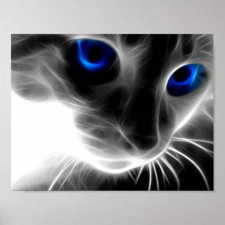 Portrait cat poster