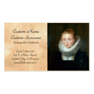 Portrait Maid Honour Infanta Isabella Rubens Paul Pack Of Standard Business Cards