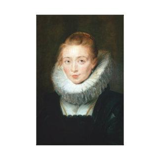 Portrait Maid Honour Infanta Isabella Rubens Paul Canvas Print