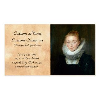 Portrait Maid Honour Infanta Isabella Rubens Paul Pack Of Standard Business Cards