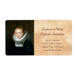 Portrait Maid Honour Infanta Isabella Rubens Paul Shipping Label